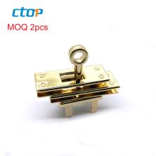 fashion light gold color handbag hardware lock bag lock metal for handbag