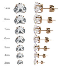 New Arrival Stainless Steel Custom Heart Shape Stud Earrings for Women