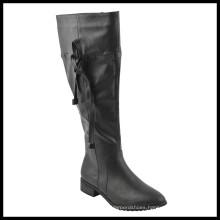 Fashion Wide Calf Flat Heel Ladies Knee High Boots (HCY02-1527)