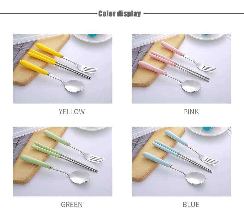 Ceramic Handle Cutlery Set