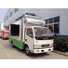 Carrinhos de venda de food truck móveis ao ar livre