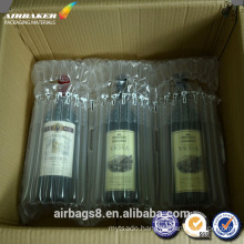 Wholesale red wine air Columns cushion bag for delivery or transportation