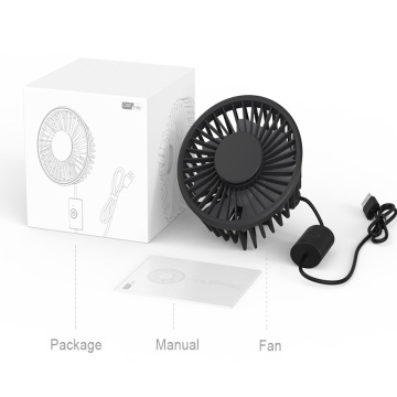 Hot sale usb mini 3 wind speed electric fan 360 rotation headrest portable air cooling car fan