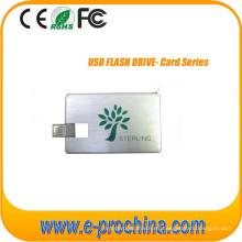 Disco USB Tarjeta de crédito Unidad flash USB con logotipo personalizado