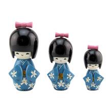 FQ marca madeira criança antiga kokeshi tradicional japonês baby doll