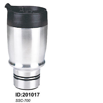 Stainless Steel Vacuum Double Wall Auto Car Mugs New Ssc-700