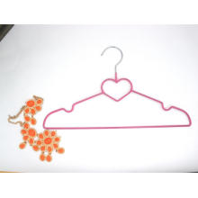 Hh Brand Hm010 Wholesale Red Plastic Plated Metal Coat Clothes Hangers Cheap Price