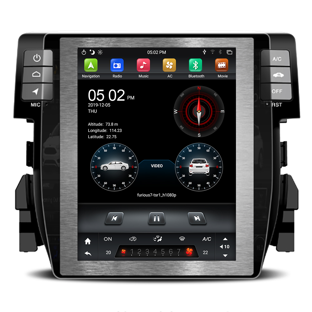 Tesla Car Radio For Honda Civic