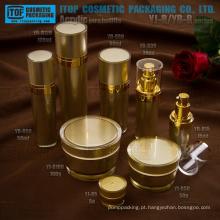 O mais popular e quente-vendendo cone redondo acrílico frasco de creme e loção garrafa alta qualidade luxo cosméticos recipiente