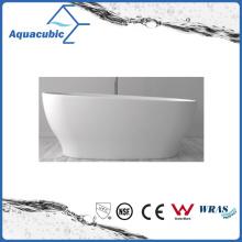 Bathroom Oval Solid Surface Freestanding Bathtub (AB6105)