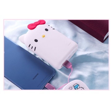 Custodia Powerbank portatile Hello-kitty carina per smart phone