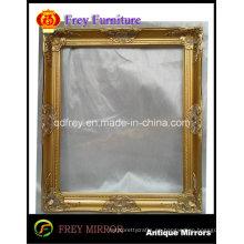 Marco de espejo de pared de oro de diseño antiguo para el hotel