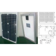 Модуль 18В 20 Вт 25 Вт Монокристаллические солнечные панели Солнечной системы с CE утвержден