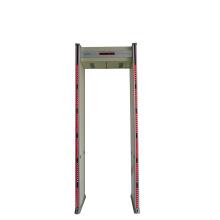 Six zones door frame metal detector