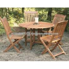 Juego de muebles de jardín de madera maciza de eucalipto