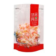 Custom Snack Biscuits Nougat Snowflake Shortbread Sealing Packaging Bag Ziplock Bag