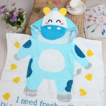 100% coton dessin animé imprimé enfants capuche bébé serviettes de bain HDT-010 en gros