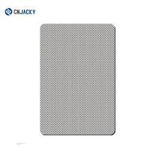 Plaque en acier inoxydable pour cartes de plastification