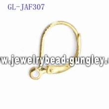 Gold plated lever back earrings accessories