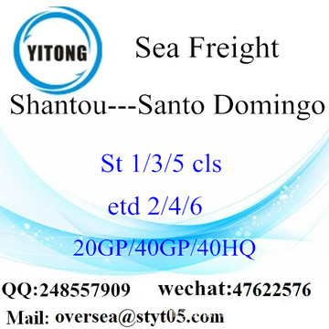 Shantou Port Sea Freight Shipping To Santo Domingo