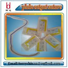 Boda high tensil strength Desechable Absorbible llano y sutura quirúrgica de intestino intestinal, usp 7-0 #