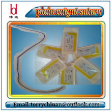 boda high tensil strength Disposable Absorbable plain & chromic surgical gut suture,usp 7-0#
