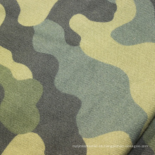 Tela de franela impresa 100% algodón con diseño de camuflaje cepillado