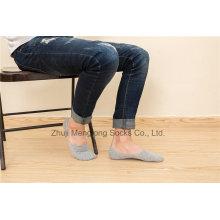 Verano Calcetines de algodón Hombre Calcetines invisibles Calcetines de corte bajo para hombres con Silicion Gel Heel