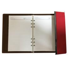 cuaderno de papel de encargo del cuero de la lechería