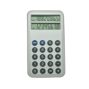 Double écran Pocket Calculator avec Euro Conversion
