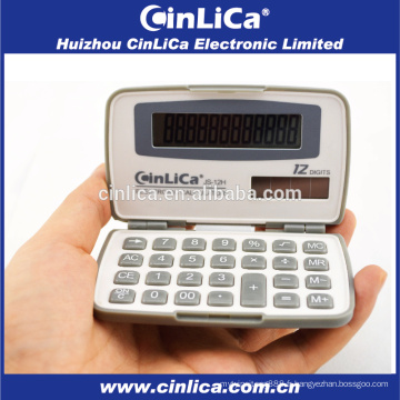 JS-12H calculatrice de taille réduite de 12 chiffres, calculatrice de poche la moins chère