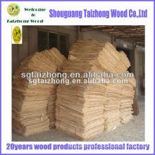 Material de madeira de choupo usado para madeira compensada