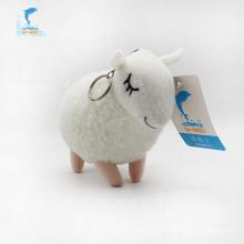 Brinquedo de carneiro de pelúcia gorda chaveiro eletrônico