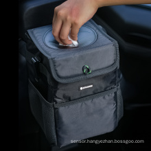 Car organizer bag with lid car garbage bin waterproof lining manufactures