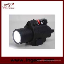 Linterna táctica M6 6V 180lm Qd LED y Laser rojo vista negro