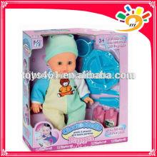Lustige 38cm Höhe batteriebetriebene Saugen Baby Puppe funktionale Baby Puppen Spielzeug mit Abendessen