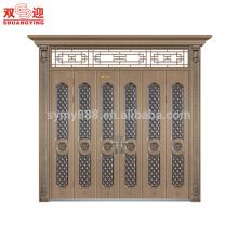 Porte d'entrée extérieure en acier design moderne