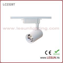 Очень горячие 30W белый/черный светодиодов cob трек свет для магазина ювелирных изделий LC2328t