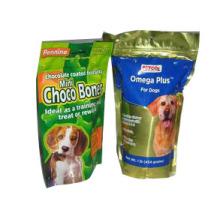 Saco de plástico do alimento para cães / saco inferior do alimento para cães da folha de Al do reforço