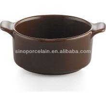 Plato de cazuela de cerámica negra para BS12083B
