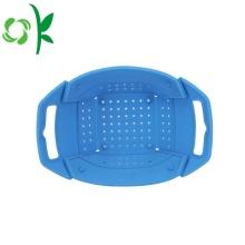 Silicone Vegetable Grocery Fruit Basket Folding Basket