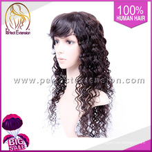Spanish Curl Stretch Small Size Human Hair 36 Inch Long Lace Wig