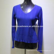 El suéter hecho punto invierno de la cachemira de las nuevas mujeres del diseño 2016 de la manera de la fábrica