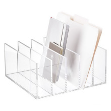 Premium 5 Section Desk Office Organizer Clear Mail File Letter Collator Acrylic Paper Sorter