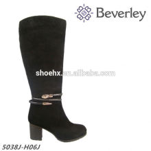 Mabufacture Price large size genuine leather lady suede boot for Autumn and Winter
