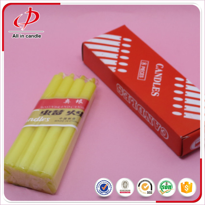 color stick candle in box