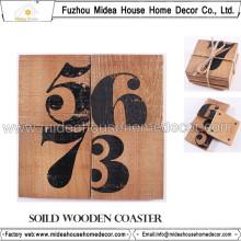 Porta copos de madeira promocional de qualidade superior