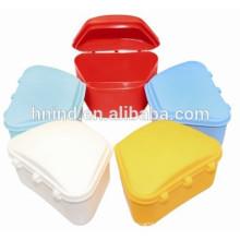 FDA colorful denture box plastic dental retainer box