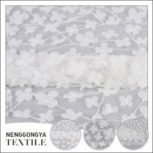 New design beautiful tulle mesh polyester floral chiffon fabric