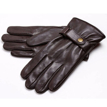 Men Fashion Winter Warm Leather Motorcycle Driving Sports Gloves (YKY5195)